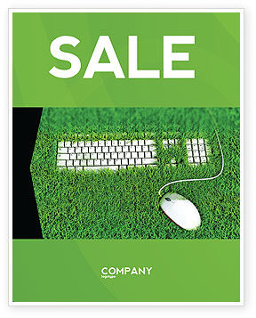 Green Technology Sale Poster Template, 04173, Technology, Science & Computers — PoweredTemplate.com