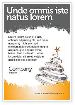Holiday/Special Occasion: New Year Tree Ad Template #04174