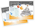 Holiday/Special Occasion: New Year Tree Brochure Template #04174