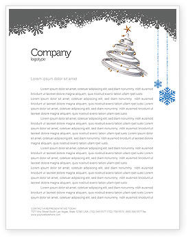 Holiday/Special Occasion: New Year Tree Letterhead Template #04174