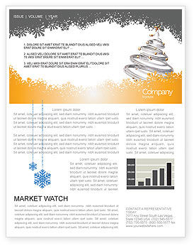 Holiday/Special Occasion: New Year Tree Newsletter Template #04174