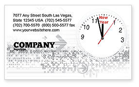 Holiday/Special Occasion: 2009 Almost Here Business Card Template #04177
