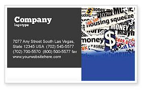 Money Assets Business Card Template