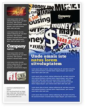 Money Assets Flyer Template, 04179, Financial/Accounting — PoweredTemplate.com