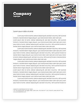 Money Assets Letterhead Template, 04179, Financial/Accounting — PoweredTemplate.com