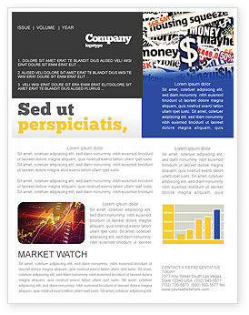 Financial/Accounting: Money Assets Newsletter Template #04179