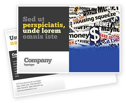 Money Assets Postcard Template
