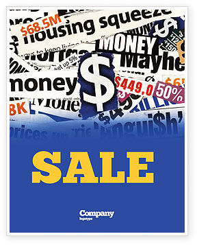 Money Assets Sale Poster Template, 04179, Financial/Accounting — PoweredTemplate.com