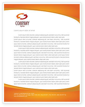 Social Network Letterhead Template, 04180, Careers/Industry — PoweredTemplate.com