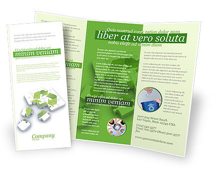 Recycle Technology Brochure Template, 04181, Business Concepts — PoweredTemplate.com