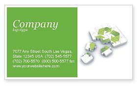 Business Concepts: Recycle Technology Business Card Template #04181