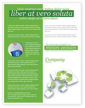 recycle technology flyer template background in microsoft word