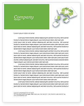 Business Concepts: Recycle Technology Letterhead Template #04181