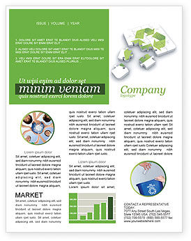 Business Concepts: Recycle Technology Newsletter Template #04181