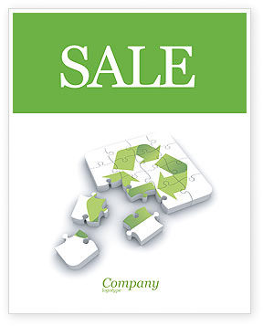 Recycle Technology Sale Poster Template, 04181, Business Concepts — PoweredTemplate.com
