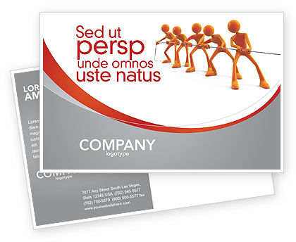 Pull Postcard Template, 04183, Consulting — PoweredTemplate.com