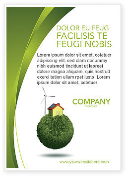 Nature & Environment: Green Planetoid Ad Template #04184