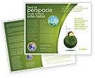 Nature & Environment: Green Planetoid Brochure Template #04184