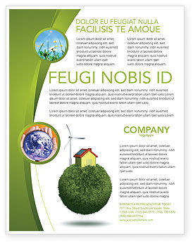Nature & Environment: Templat Flyer Planetoid Hijau #04184