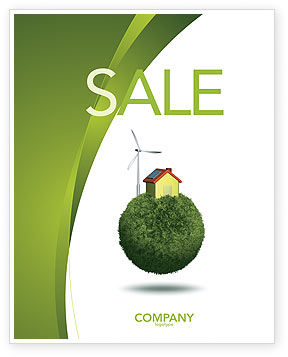 Green Planetoid Sale Poster Template, 04184, Nature & Environment — PoweredTemplate.com