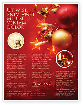 Holiday/Special Occasion: Red Christmas Theme Flyer Template #04186
