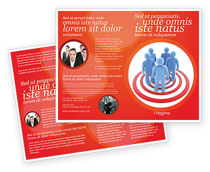 Target Audience Brochure Template, 04187, Consulting — PoweredTemplate.com