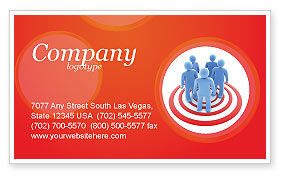 Target Audience Business Card Template, 04187, Consulting — PoweredTemplate.com