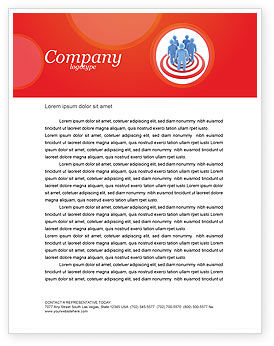 Target Audience Letterhead Template, 04187, Consulting — PoweredTemplate.com
