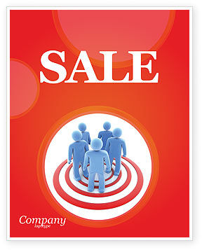 Target Audience Sale Poster Template, 04187, Consulting — PoweredTemplate.com