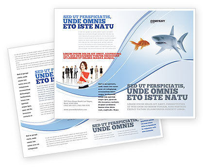 Business Concepts: Predator and Prey Brochure Template #04188