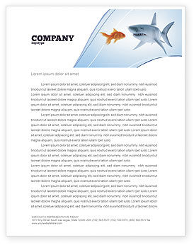 Business Concepts: Predator and Prey Letterhead Template #04188