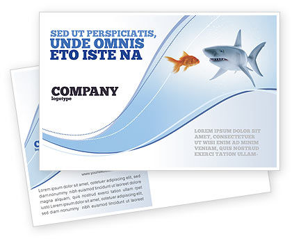 Business Concepts: Predator and Prey Postcard Template #04188