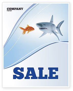 Business Concepts: Predator and Prey Sale Poster Template #04188