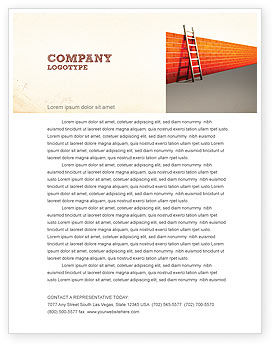 Obstacle Letterhead Template, 04189, Consulting — PoweredTemplate.com