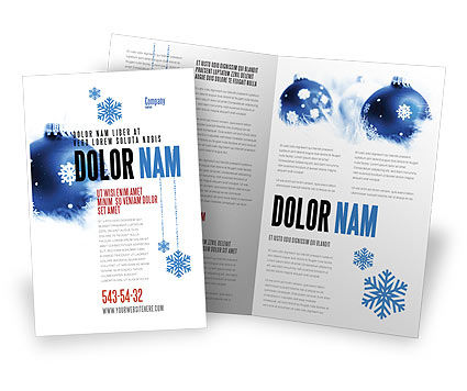 Holiday/Special Occasion: Christmas Decoration Ball Brochure Template #04190