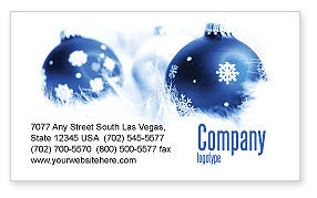 Holiday/Special Occasion: Christmas Decoration Ball Business Card Template #04190