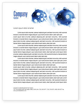 Holiday/Special Occasion: Christmas Decoration Ball Letterhead Template #04190