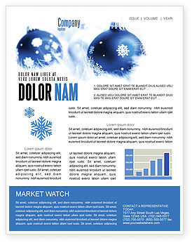 Christmas Decoration Ball Newsletter Template, 04190, Holiday/Special Occasion — PoweredTemplate.com