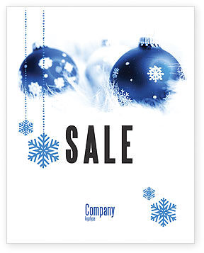 Christmas Decoration Ball Sale Poster Template, 04190, Holiday/Special Occasion — PoweredTemplate.com