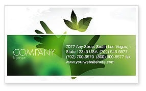 Nature & Environment: Helping Nature Business Card Template #04194