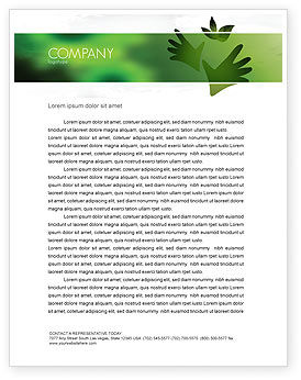 Nature & Environment: Helping Nature Letterhead Template #04194