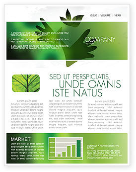 Nature & Environment: Helping Nature Newsletter Template #04194