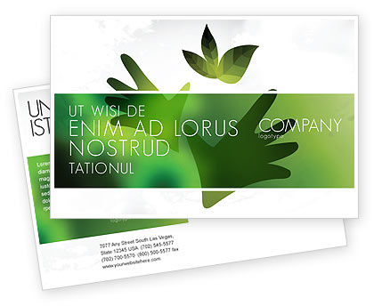 Helping Nature Postcard Template, 04194, Nature & Environment — PoweredTemplate.com