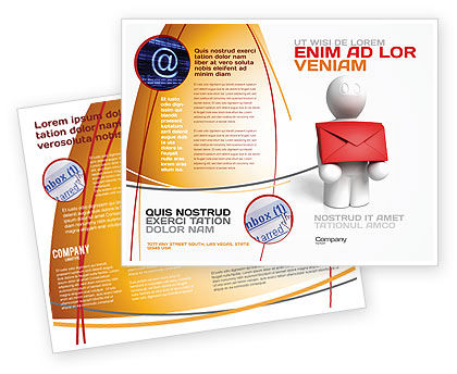 Email Delivery Brochure Template, 04195, Careers/Industry — PoweredTemplate.com