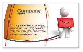 Careers/Industry: Email Delivery Business Card Template #04195