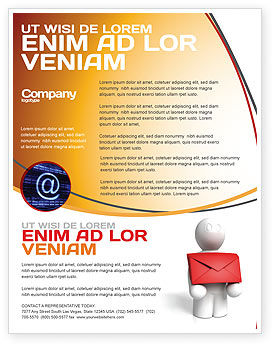Email delivery flyer template background in microsoft for Email brochure template