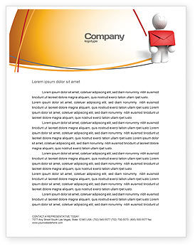 Careers/Industry: Email Delivery Letterhead Template #04195
