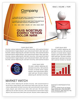 Email Delivery Newsletter Template, 04195, Careers/Industry — PoweredTemplate.com