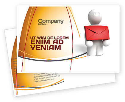 Email Delivery Postcard Template, 04195, Careers/Industry — PoweredTemplate.com
