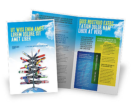 Travel directions brochure template design and layout for Free travel brochure templates